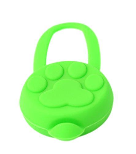 PRECORN LED Leuchtanhänger Silikon Leuchthalsband Led Hundehalsband in grün - 4