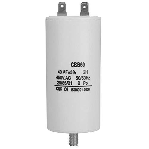 CBB60 Kondensator 450V 40uf,Jectse Betriebskondensator Motorkondensator Wasserpumpenkondensator mit hohem Isolationswiderstand,Überspannungsschutz für Waschmaschinen,Pumpen,Kühlschränken