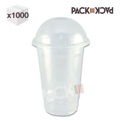 16 oz Clear PET Smoothy Cup with domed lid x 1000 (Free P&P on all our Products) Test
