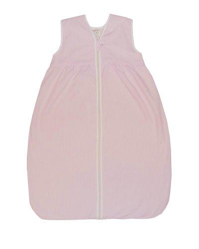 Lana Natural Wear Baby - Mädchen Schlafsack Molton Streifen, Gestreift, Gr. 80, Rosa (Rosa/Weiß 1059)