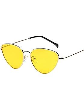 Gafas de Sol para Mujer y Hombre 💋💝 Yesmile Gafas de Sol de Viaje Gafas de Sol Unisex Lente Espejo Retro Vintage...