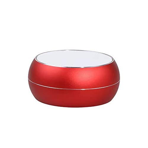 Bluetooth Lautsprecher Kreative Outdoor Chess Drum Aluminiumlegierung Drahtlose Bluetooth Verbindung 10 × 10 × 4 cm, Rot