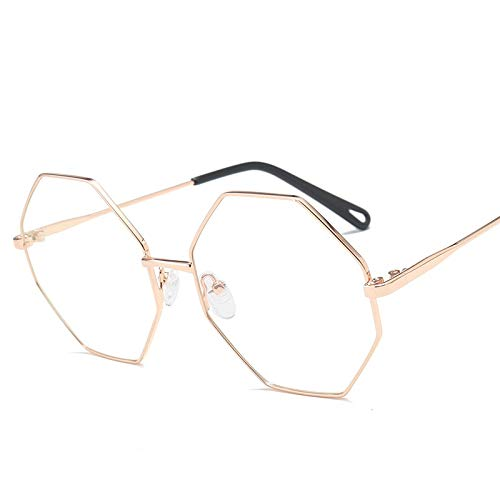 SNXIHES Sonnenbrillen Hexagon Brillengestell Retro Runder Brillengestell Vintage Brille Optische Computerbrille Unisex No Degrees 4