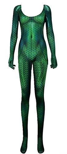 qingning Aqua Mera Overall Queen Atlanna Cosplay Sexy Ganzkörperanzug Halloween Kostüm Outfit