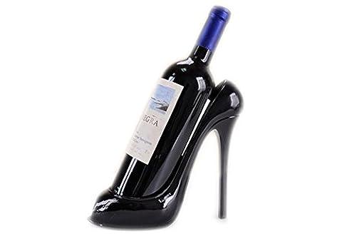 Ailiebhaus High Heel Shoe Wine Bottle Holder (Black)