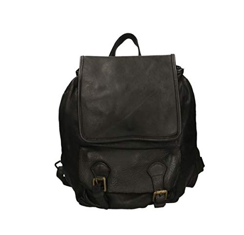 45603963d6 ZETA SHOES Vintage Woven Leather Briefcase Backpack Made in Italy MainApps  Nero