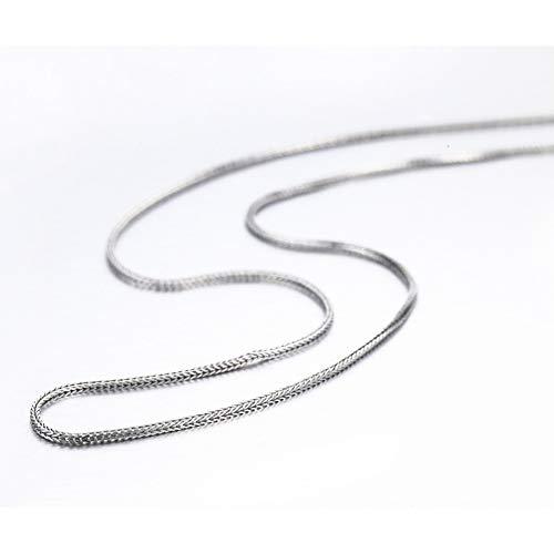 """FyaWTM Halskette Choker 16""""-32"""" 925 Sterling Silber Fuchsschwänze Chopin Kette Halskette Frauen MädchenSchmuck"""