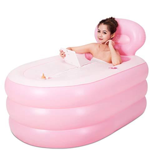 Cxmm Aufblasbare Badewanne für Erwachsene Aufblasbare Badewanne Verdickungsmaterial Strap