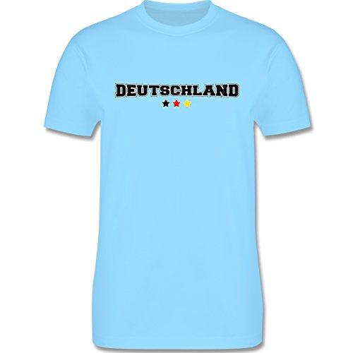 EM 2016 - Frankreich - Deutschland College Schriftzug - Herren Premium T-Shirt Hellblau