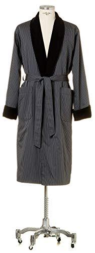 Möve Homewear Leichter Morgenmantel mit Frottierfutter in Gr. L aus 100 {c61275243366d0dabe9ba19b5504d6ba4e6bd371df760565bbcd7720849360e4} Baumwolle, dark grey