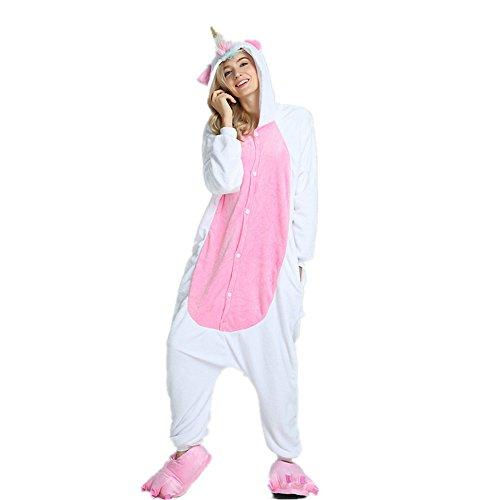 OAMORE Unicorn Pajama Adult Anime Pigiama Cosplay Costume Flanella Tuta unicornio