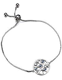 8cdec065b649 amatorial Árbol de la vida pulsera para las mujeres 925 plata esterlina  cadena de enlace pulsera cumpleaños aniversario sorpresa joyas…
