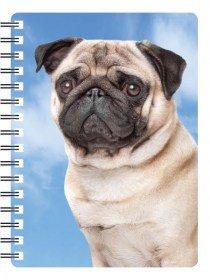 Pug Dog/Mops Gift-Qualità quaderno rilegato a spirale con bellissimi 3D copertura (Pug Christmas Stocking)