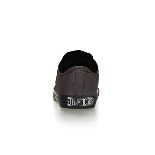 Ethletic Black Cap Vegan LoCut - Farbe Pewter Grey/Black Aus Bio-Baumwolle Größe 45 - 4