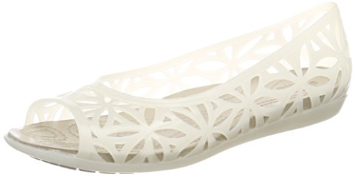 Crocs Isabella Jelly Ii Femmes Flat, Sandales Open Toe Ivoire (oyster / Pavés)