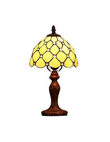 DLewiee Klassische Tischleuchte Set Gelb mit Holzfuß für Esszimmer Wohnzimmer zum Verkauf