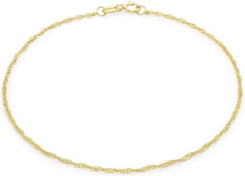 Carissima Gold 9ct Yellow Gold Twist Curb Anklet 23cm/9 ipVJDdf3