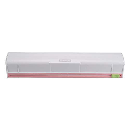 Majome Dispensador de Envoltura de Alimentos Plástico Cortador de Láminas de Cling Film Storage Holder Box Suministros de Cocina