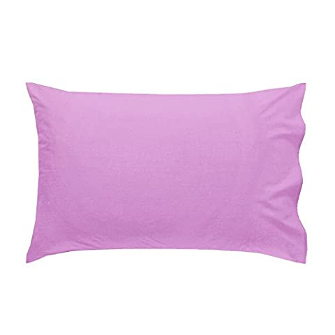 Just Contempo Non-Iron Easycare Percale Plain Pillow Cases, Lilac Purple, Pack of 2