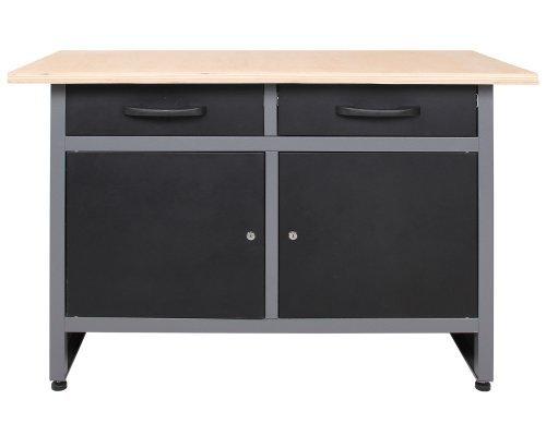 Ondis24 Montagewerkbank Werkstatteinrichtung Werkstatt Werkbank Werktisch mit 2 Schubläden...