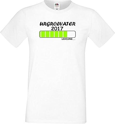 ShirtInStyle Männer T-Shirt Urgroßvater Loading 2017,Farbe weiss, Größe S