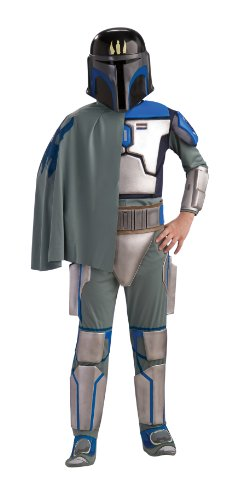Star Wars Deluxe Kinder Kostüm Pre Vizsla Größe - 116 (Deluxe Kostüm Pre Vizsla)