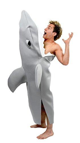 Bristol Novelty AC442 Von einem Hai gebissen Kostüm, grau, Oberweite 112 - Surfer Kostüm