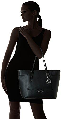 Guess Femme, Sac, Hwey45 35230, Blanc (White) Noir (Black)