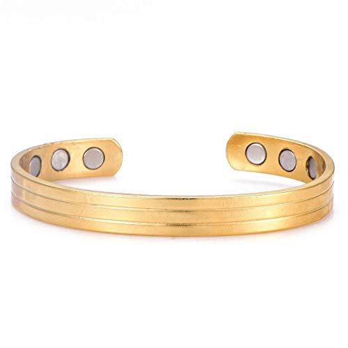 QueenDer Copper Bracelet Arthritis Therapy Magnetic Bracelets (6 Magnets Embedded) Effective & Natural Relief Arthritis Carpal Tunnel Pain Women Men(Rose Gold)