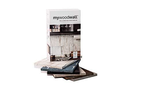 DIY Wandpaneele aus Echtholz von Mywoodwall - Schöne 3D Wandverkleidung aus FSC Zertifiziertem Holz - MUSTER-BOX