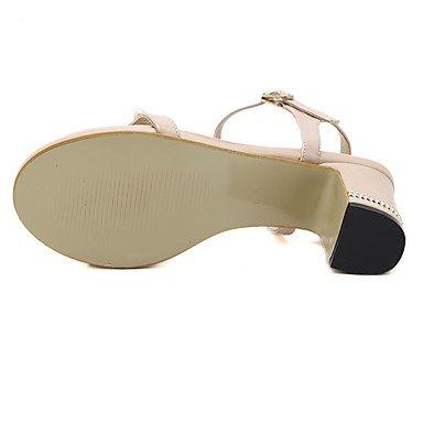 LvYuan Da donna-Sandali-Matrimonio Formale Serata e festa-Club Shoes-Quadrato-Finta pelle Black