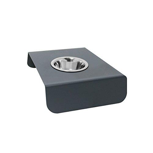 Artikelbild: Thorwa® Design Edelstahl Futterstation Fressnapf Futternapf Futterbar Hundenapf Einzelnapf-Ständer (200 ml, Standhalterung (RAL 7016 Anthrazit))