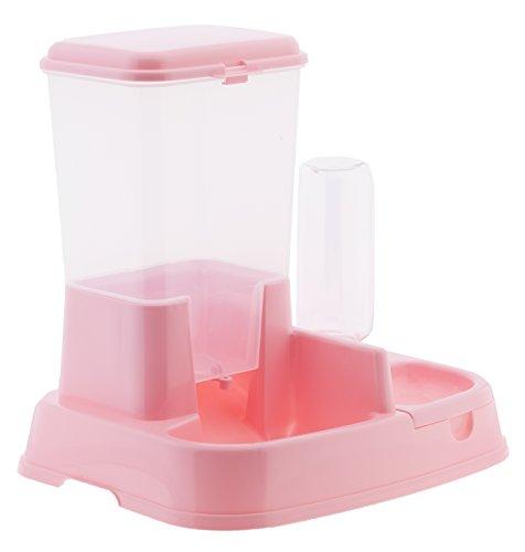Distributore Di Cibo Per Animali Con Capacità Di 5 Litri (Colore Rosa)