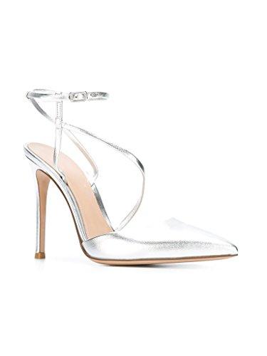 Kolnoo - Scarpe con cinturino alla caviglia Donna Argento