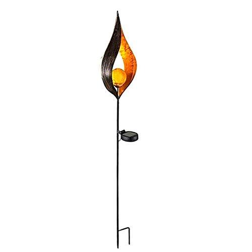 Solar Flamme Eisen Licht im Freien Garten Rasen Stecker kleine Gartendekoration LED-Licht@Stil 3_Single -