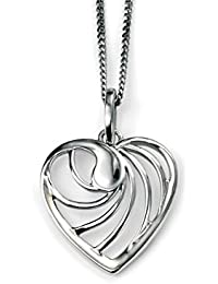 TF elements: Heart-Pendant, rodium plated, 925 Sterling Silver