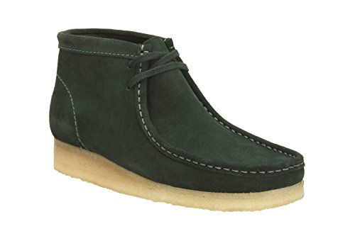 clarks-mens-originals-moccasin-boots-wallabee-boot-green-leather