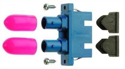 Telegärtner ST/SC Duplex Adapt. MM J08082A0010 Phosphorbronzehülse LWL-Kupplung 4018359360658 - Sc-mm Duplex-lwl-kabel