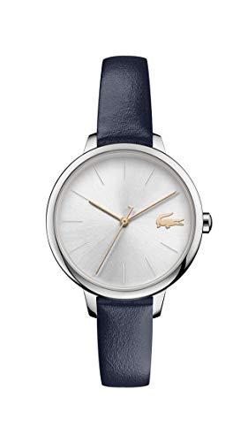 Lacoste Damen Analog Quarz Uhr mit Leder Armband 2001100 - Uhren Damen Movado