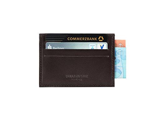 FERDINAND SABAC Leder Kreditkartenetui Kreditkartentasche Kreditkartenhülle