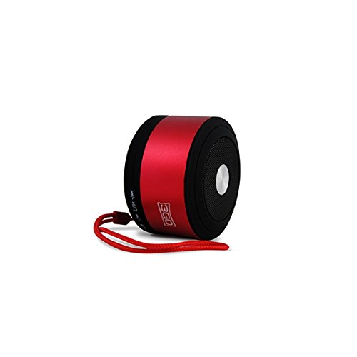 3GO Tempo 3W Rohr Schwarz, Rot-Tragbare Lautsprecher (verkabelt u. Kabellos, Batterie/Akku, Bluetooth/3.5mm, Mobile Phone/Smartphone, Tube, schwarz, rot)