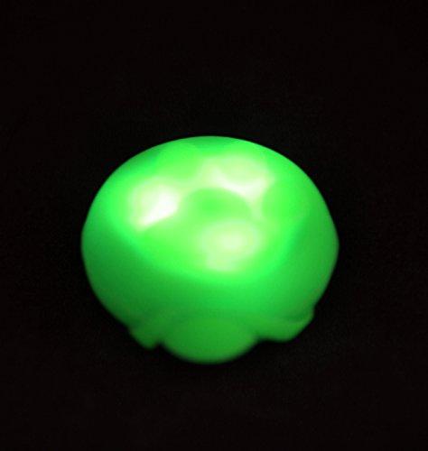 PRECORN LED Leuchtanhänger Silikon Leuchthalsband Led Hundehalsband in grün - 3