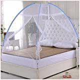 #6: Truphe Mosquito Net Fold able Mosquito Net For Double Bed (White-Premium) (Size-Double) With Cover (Best New Launch Price)
