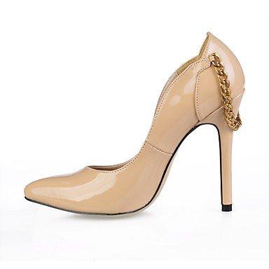 Sanmulyh Femmes Chaussures En Cuir Verni Printemps Automne Talons Confort Talon Haut Bout Pointu Pour Party & Amp; Camel Camel Robe De Soirée