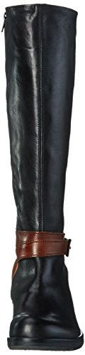 FLY London Meek735fly, Bottes femme Noir (Black/tan 000)