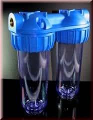 hauswasserwerk aussenfilter doppelfilter leergeh use wasserfilter 10 zoll f r brunnenwasser. Black Bedroom Furniture Sets. Home Design Ideas