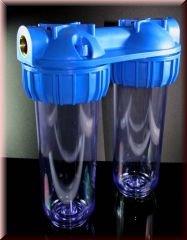 Wasserfiltergehäuse - Doppelfilter Leergehäuse