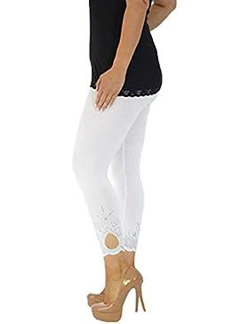 DOGZI Las Mujeres Talla Grande Deporte Yoga Slim-fit Impreso Pantalones de chándal de Yoga Pantalones de Entrenamiento...