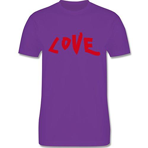 Romantisch - Love - Herren Premium T-Shirt Lila