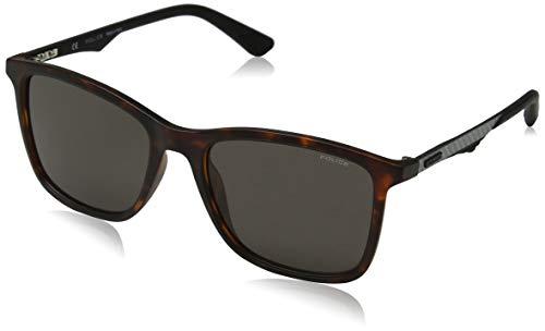 Police Herren CARBONFLY 5 Sonnenbrille, Braun (Matt Dark Havana/Blue), 54.0